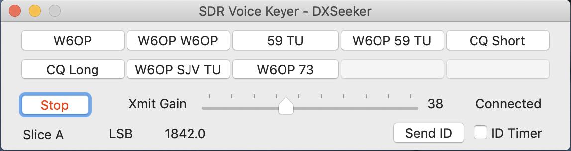 SDR Voice Keyer for Mac – W6OP Amateur Radio